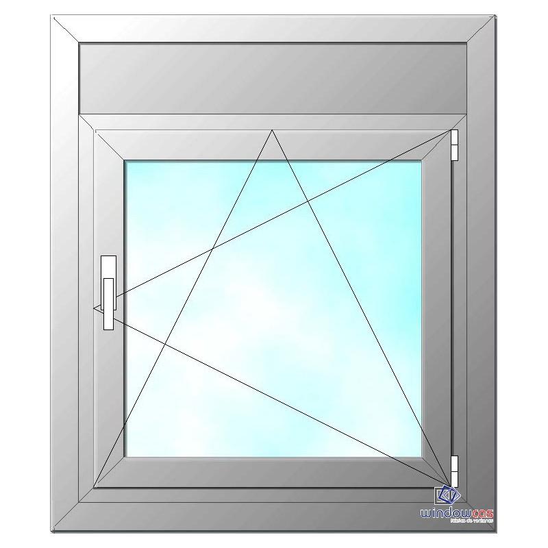 Ventana de pvc oscilo batiente de 1 hoja s752 con persiana for Precio ventana pvc con persiana