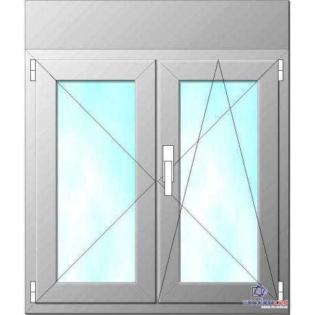 Ventana de pvc oscilo batiente de 2 hojas s752 con for Precio ventana pvc con persiana