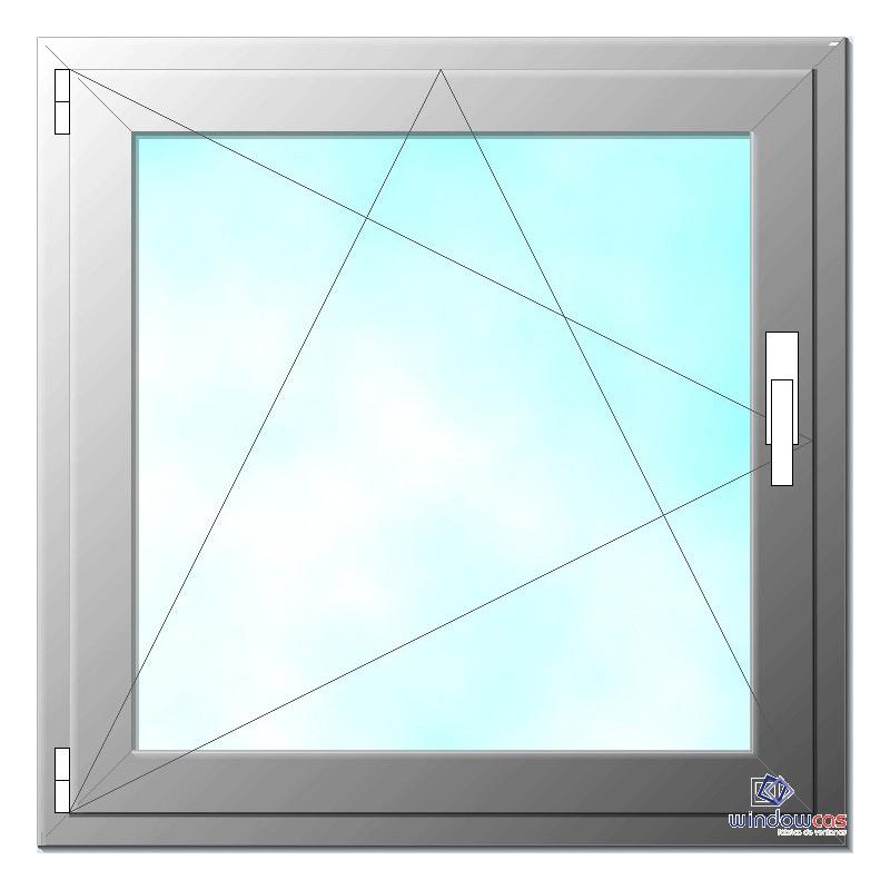 Ventana de pvc oscilo batiente de 1 hoja s752 windowcas - Ventana de pvc precio ...