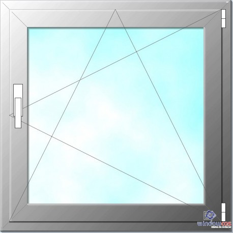 Ventana de PVC oscilo batiente color blanco de 1 hoja Wintech derecha.