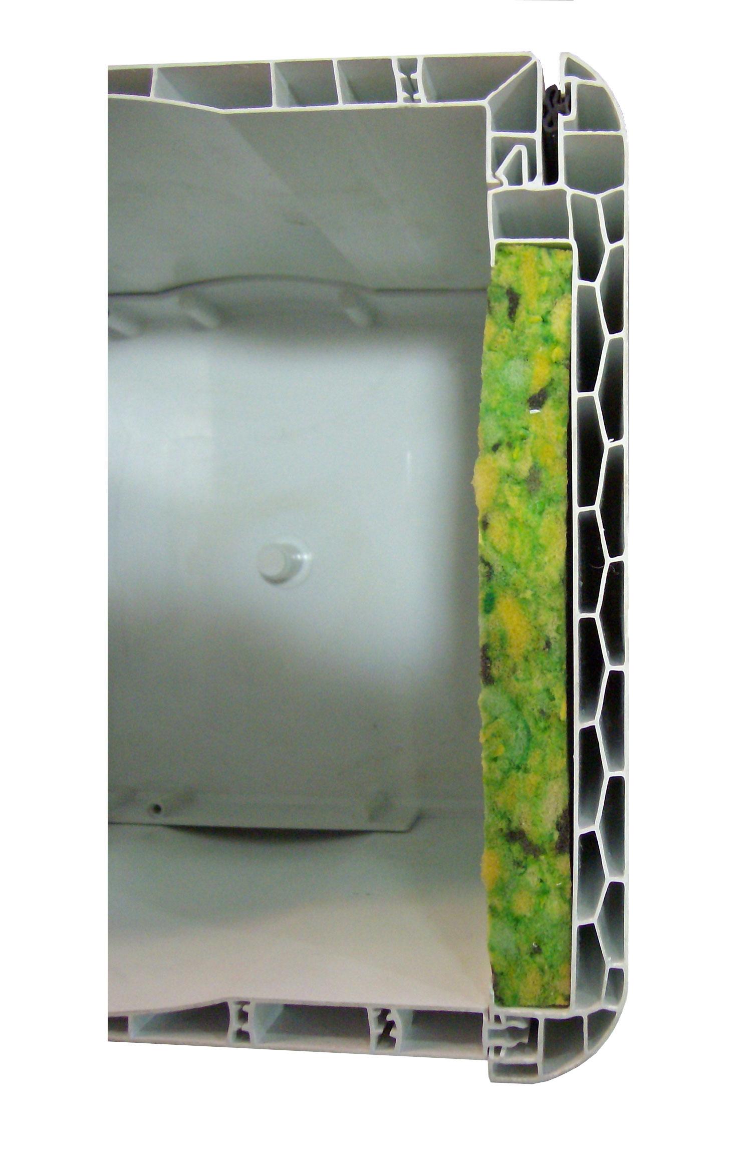 Detalla cajón de persiana