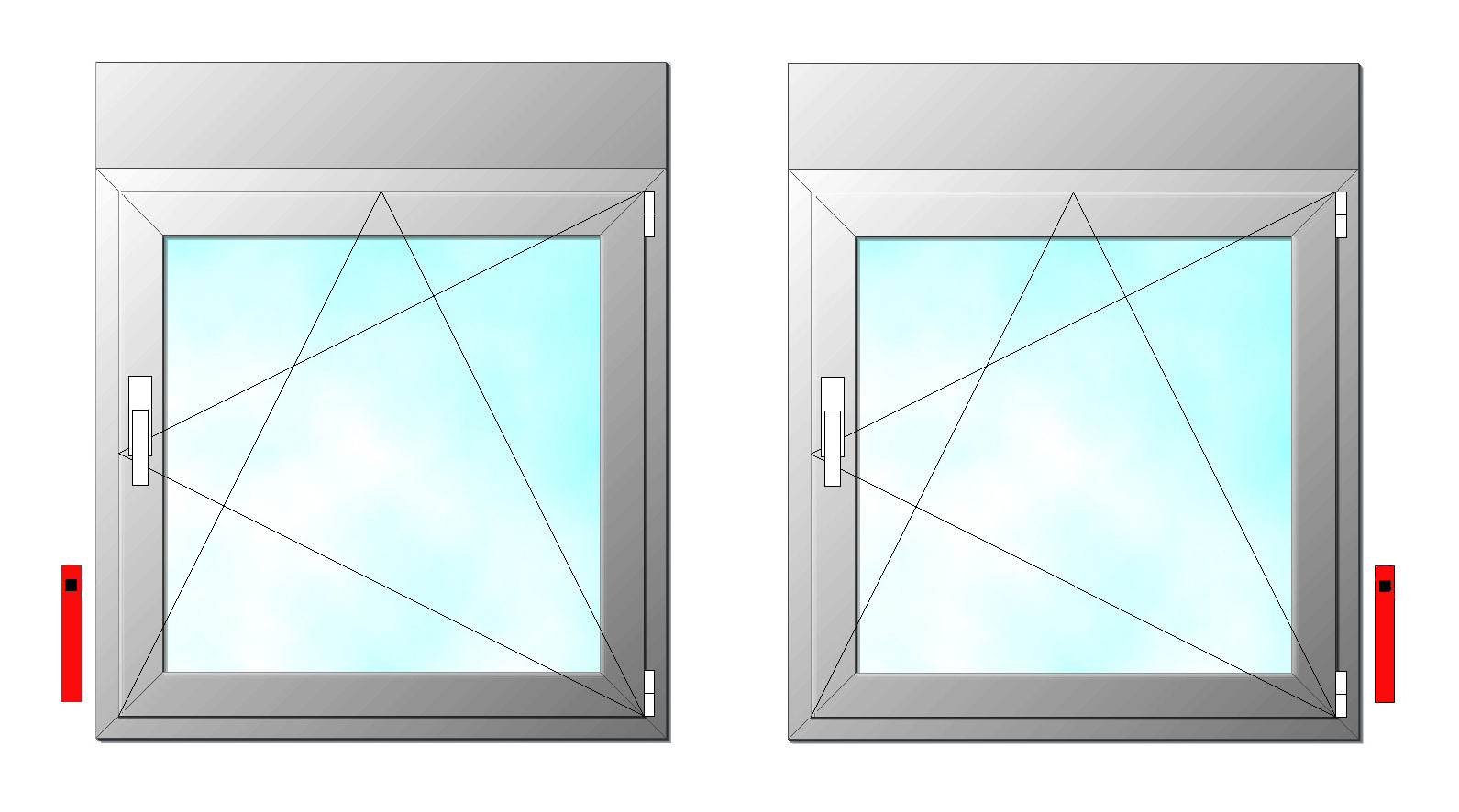 Posicon del recogedor ventana de pvc